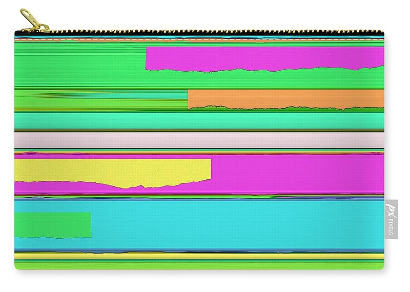 Side Streets Carry-all Pouch featuring the digital art Side Streets 2 by Keith Mills