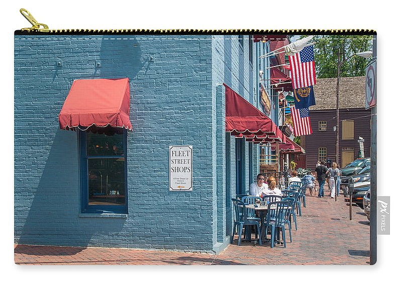 Annapolis Carry-all Pouch featuring the photograph Sidewalk Cafe Annapolis by Charles Kraus