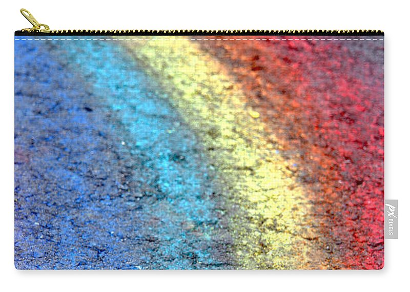 Art Carry-all Pouch featuring the photograph Sidewalk Rainbow by Olivier Le Queinec