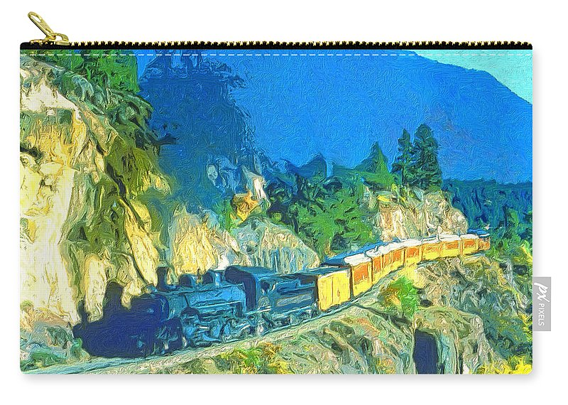Train Carry-all Pouch featuring the painting Sidewinder by Dominic Piperata