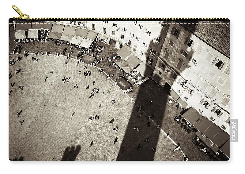 Siena Carry-all Pouch featuring the photograph Siena From Above by Dave Bowman