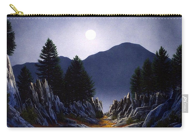Mountains Carry-all Pouch featuring the painting Sierra Moonrise by Frank Wilson