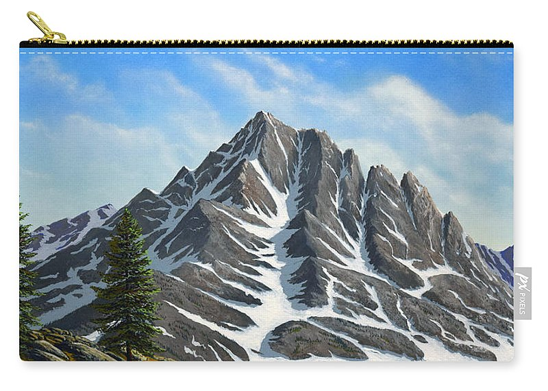 Mountains Carry-all Pouch featuring the painting Sierra Peaks by Frank Wilson