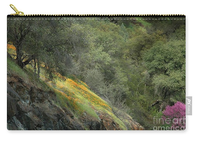 California Carry-all Pouch featuring the photograph Sierra Poppies by Norman Andrus