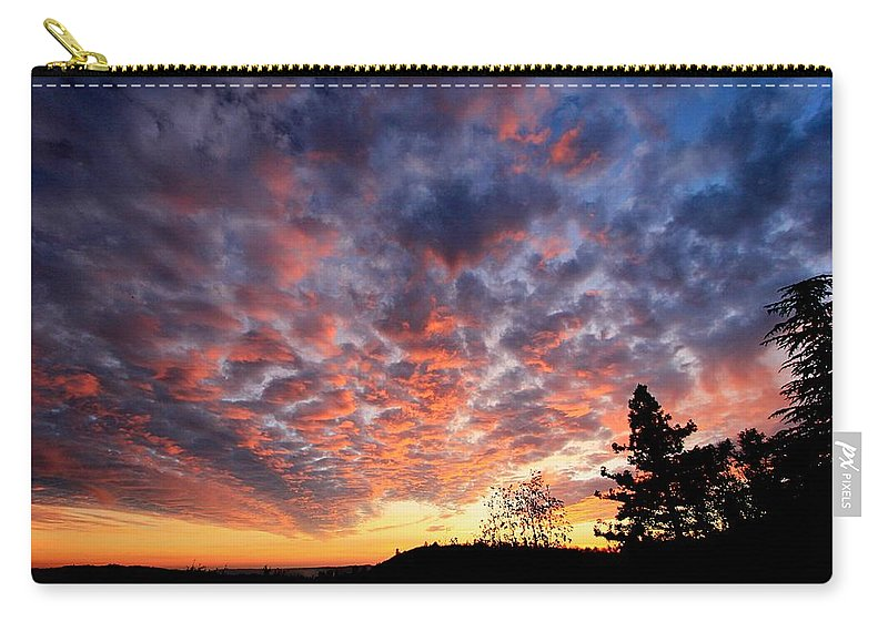 Sierra Carry-all Pouch featuring the photograph Sierra Skygasm Wide Angle by Sean Sarsfield