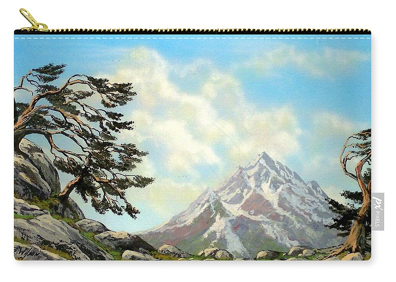 Wildflowers Carry-all Pouch featuring the painting Sierra Warriors by Frank Wilson