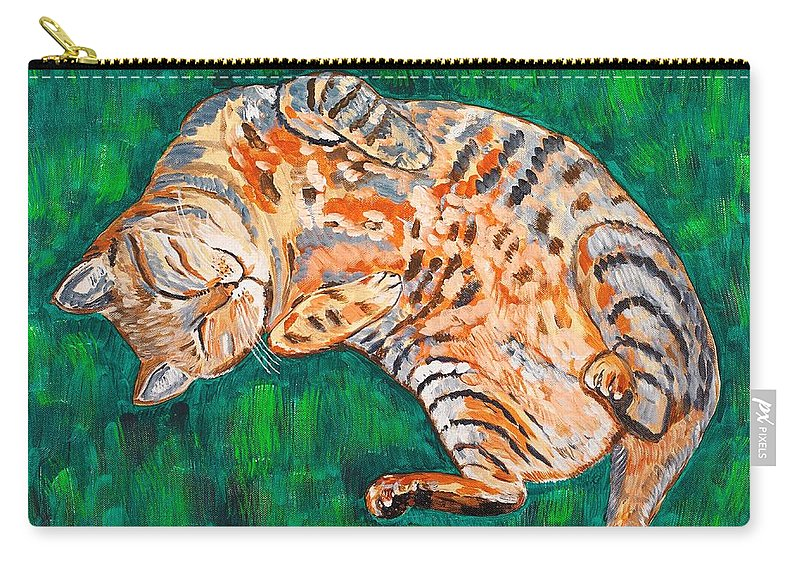 Siesta Carry-all Pouch featuring the painting Siesta by Valerie Ornstein