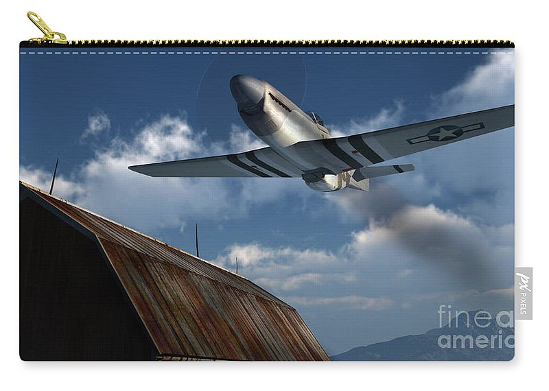 Aviation Carry-all Pouch featuring the digital art Sightseeing by Richard Rizzo