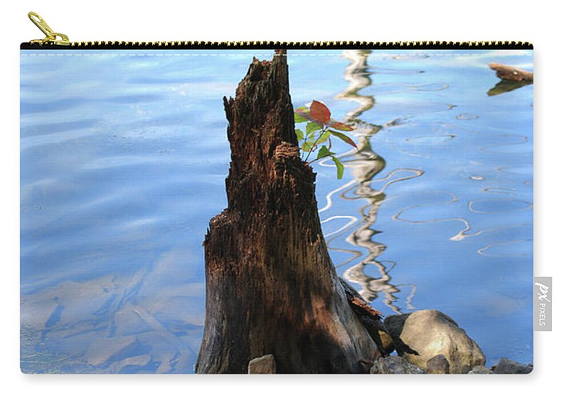 Water Carry-all Pouch featuring the photograph Sign Of Life by Lori Tambakis