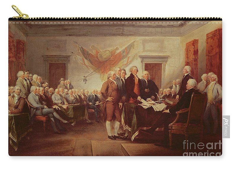 Signing Carry-all Pouch featuring the painting Signing The Declaration Of Independence by John Trumbull