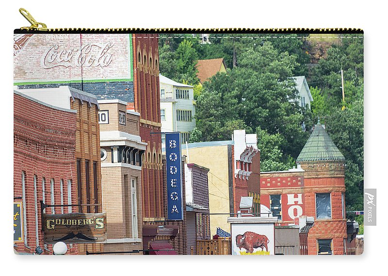 Deadwood Carry-all Pouch featuring the photograph Signs And Historic Buildings by Jess Kraft