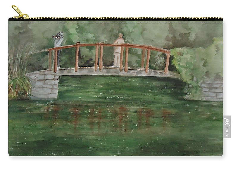 The Springs Makes Our Hearts Sing After Winter. Landscape Carry-all Pouch featuring the painting Signs Of Spring by Charme Curtin