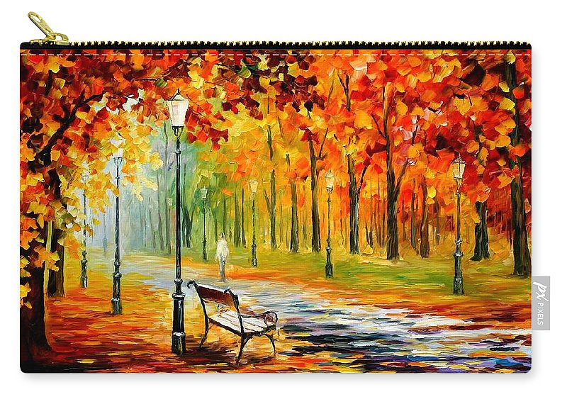Afremov Carry-all Pouch featuring the painting Silence Of The Fall by Leonid Afremov