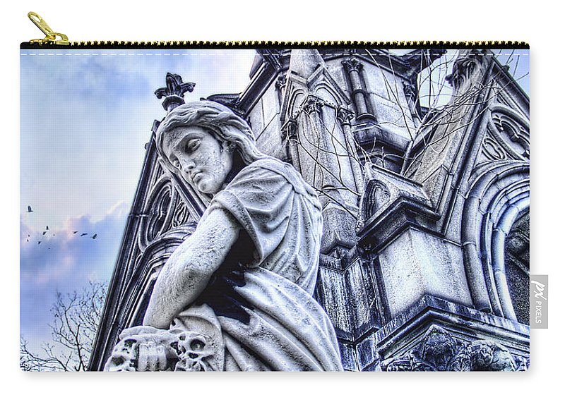 Gothic Carry-all Pouch featuring the photograph Silence by Tammy Wetzel