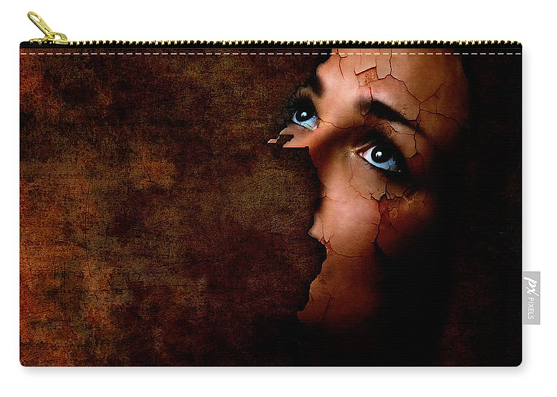 Surreal Carry-all Pouch featuring the digital art Silenced by Jacky Gerritsen