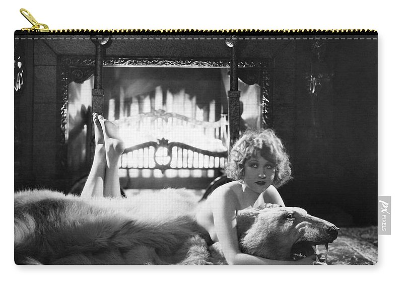 -women Single Figures- Carry-all Pouch featuring the photograph Silent Film Still: Woman by Granger