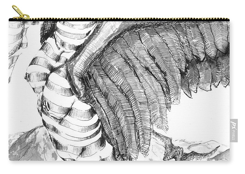 Surreal Carry-all Pouch featuring the drawing Silent Flight by Ron Bissett
