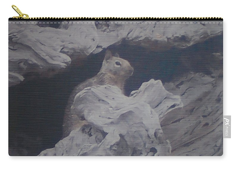 Squirrel Carry-all Pouch featuring the photograph Silent Observer by Pharris Art