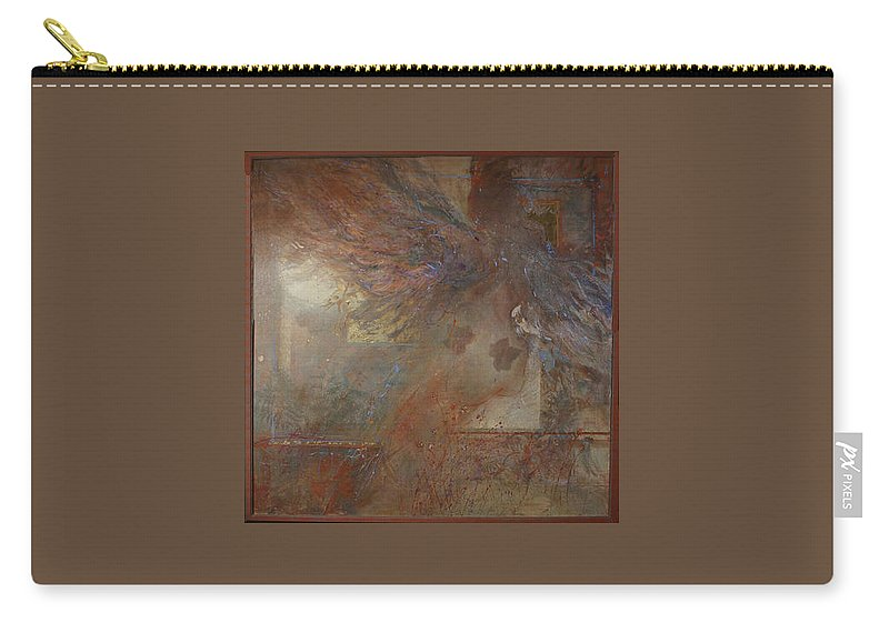 Abstract Carry-all Pouch featuring the painting Silent Prayers by Betty Jean Billups