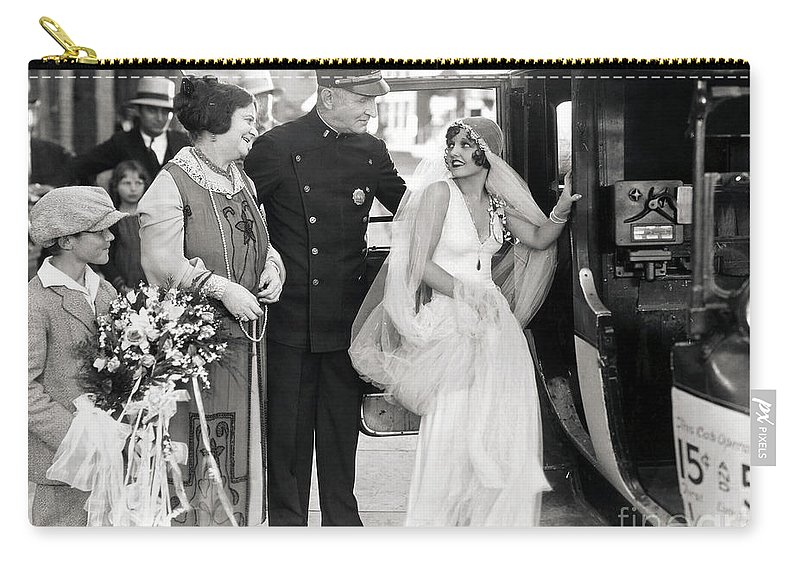 -weddings & Gowns- Carry-all Pouch featuring the photograph Silent Still: Do Your Duty by Granger