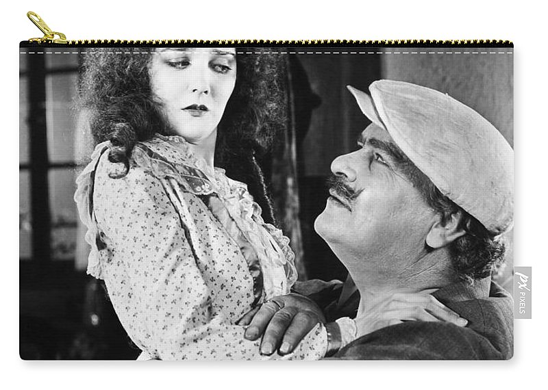 -one Man One Woman- Carry-all Pouch featuring the photograph Silent Still: Man & Woman by Granger