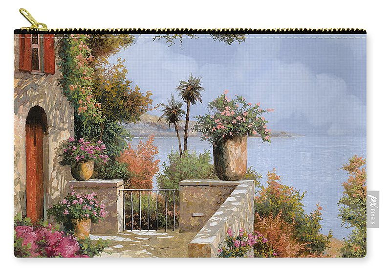 Seascape Carry-all Pouch featuring the painting Silenzio by Guido Borelli