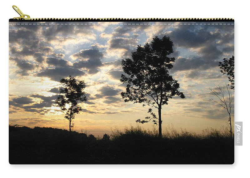 Landscape Carry-all Pouch featuring the photograph Silhouette by Rhonda Barrett