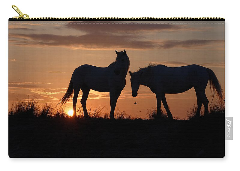 Horses Carry-all Pouch featuring the photograph Silhouettes by Marketa Zvelebil