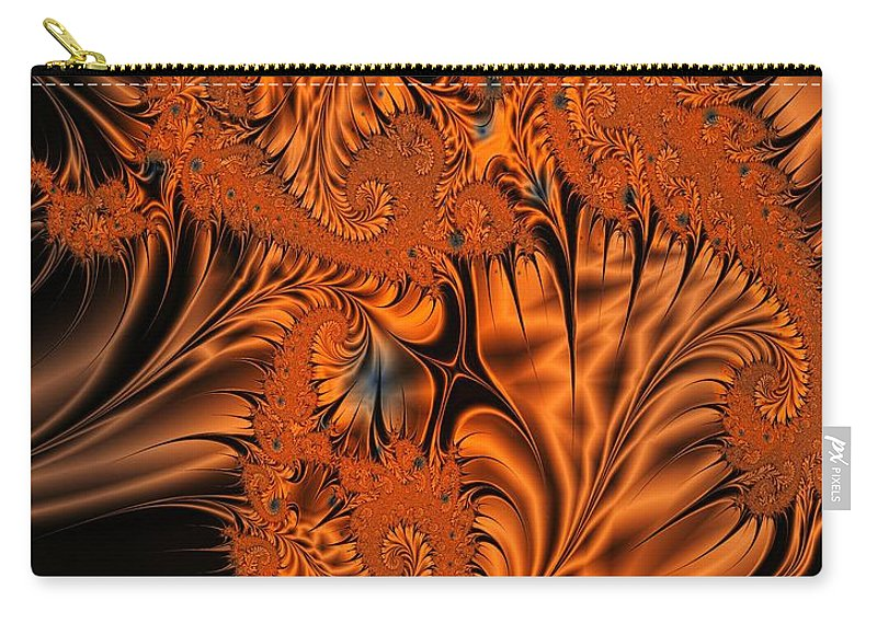 Silk Carry-all Pouch featuring the digital art Silk in Orange by Ron Bissett