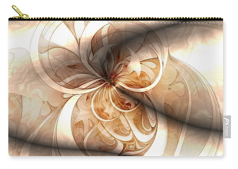 Digital Art Carry-all Pouch featuring the digital art Silk by Amanda Moore