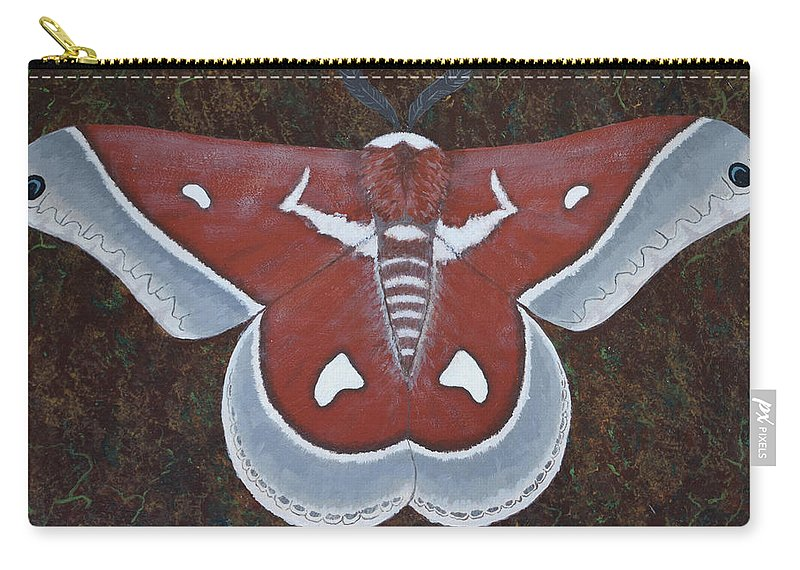 Silk Moth Carry-all Pouch featuring the painting Silk Moth by Jeff Sartain