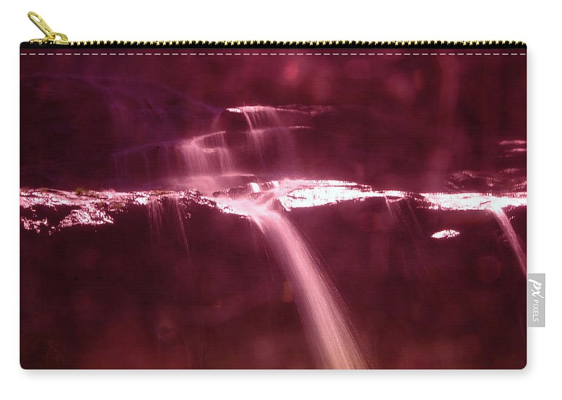 Waterfalls Carry-all Pouch featuring the photograph Silk Off The Rocks by Jeff Swan