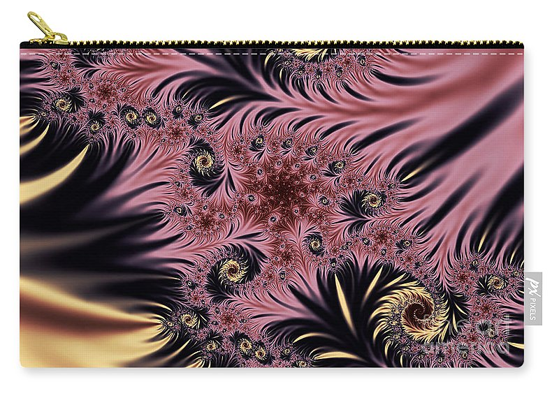 Clay Carry-all Pouch featuring the digital art Silken Pleasures by Clayton Bruster