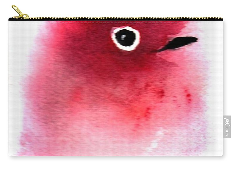 Fantasy Carry-all Pouch featuring the painting Silly Bird #4 by Anne Duke