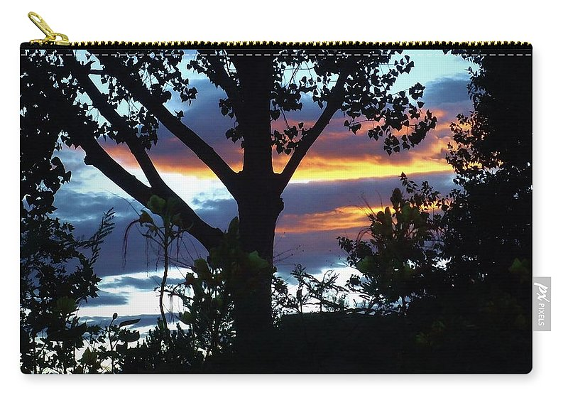 Trees Carry-all Pouch featuring the photograph Silohuettes Of Trees by Lois  Rivera