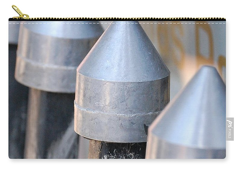 Gate Carry-all Pouch featuring the photograph Silver Bullets by Debbi Granruth