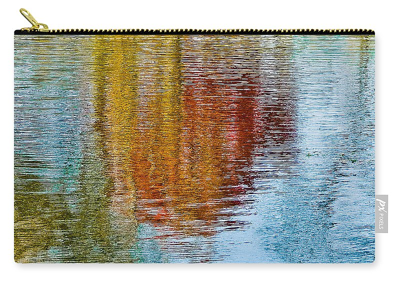 Silver Carry-all Pouch featuring the photograph Silver Lake Autumn Reflections by Michael Bessler