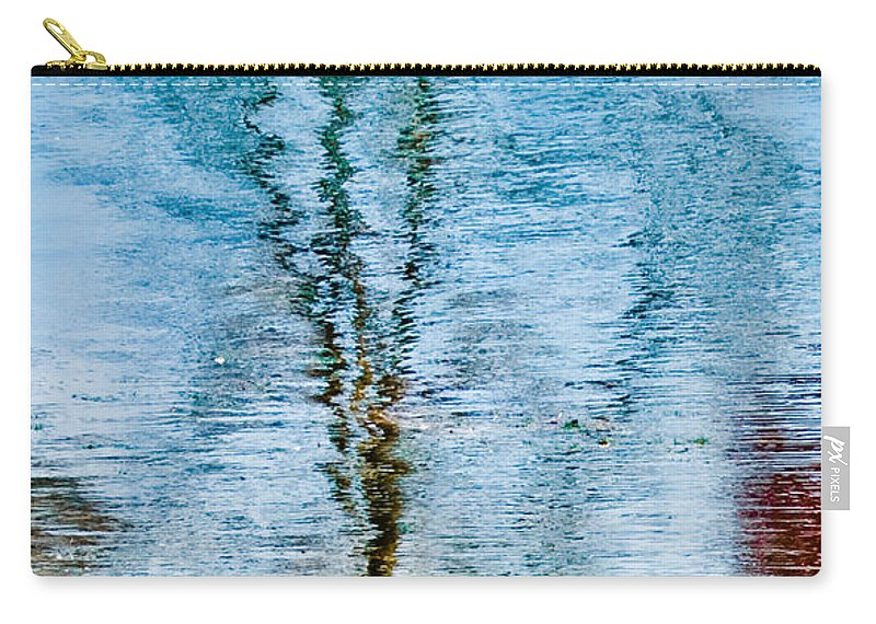 Silver Carry-all Pouch featuring the photograph Silver Lake Tree Reflection by Michael Bessler