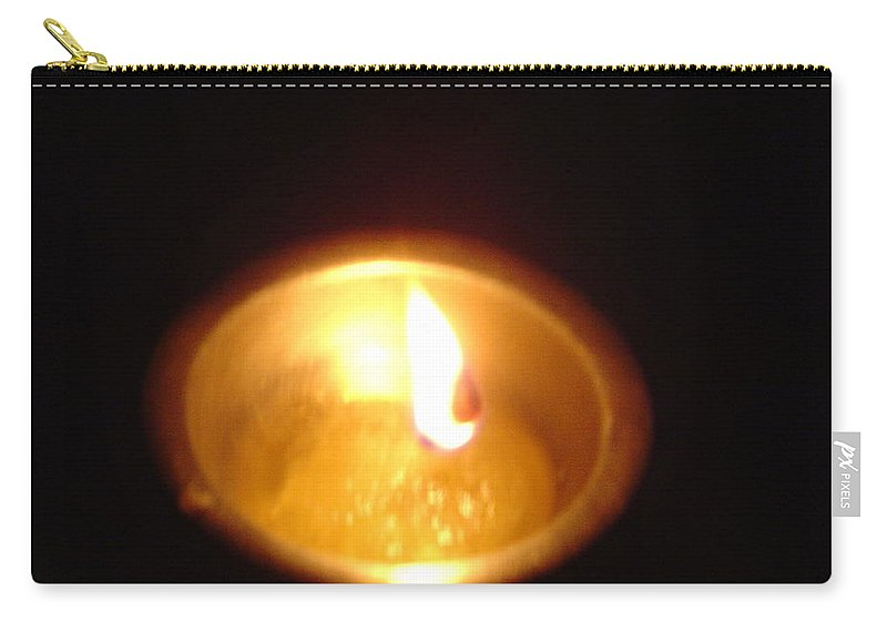 Indian Carry-all Pouch featuring the photograph Silver Lamp by Usha Shantharam