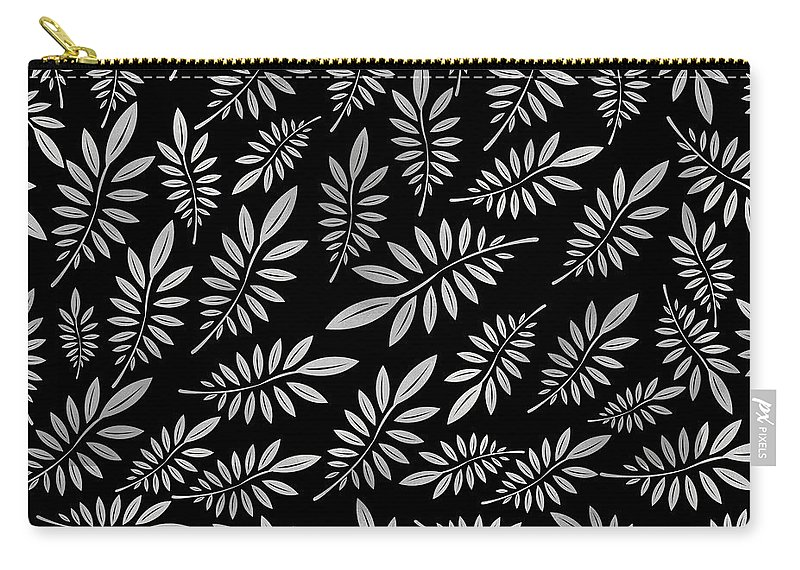 Pattern Carry-all Pouch featuring the digital art Silver Leaf Pattern 2 by Stanley Wong