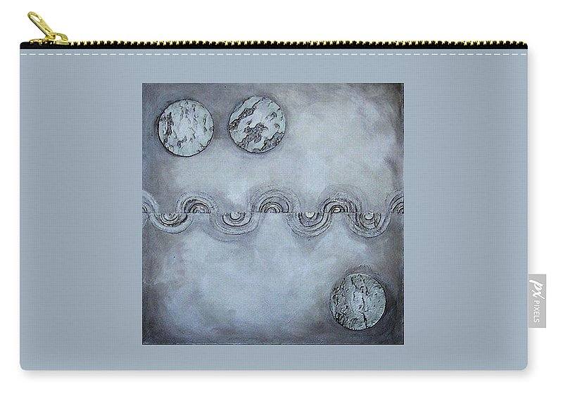 Sets Carry-all Pouch featuring the painting Silver Lining by Marlene Burns