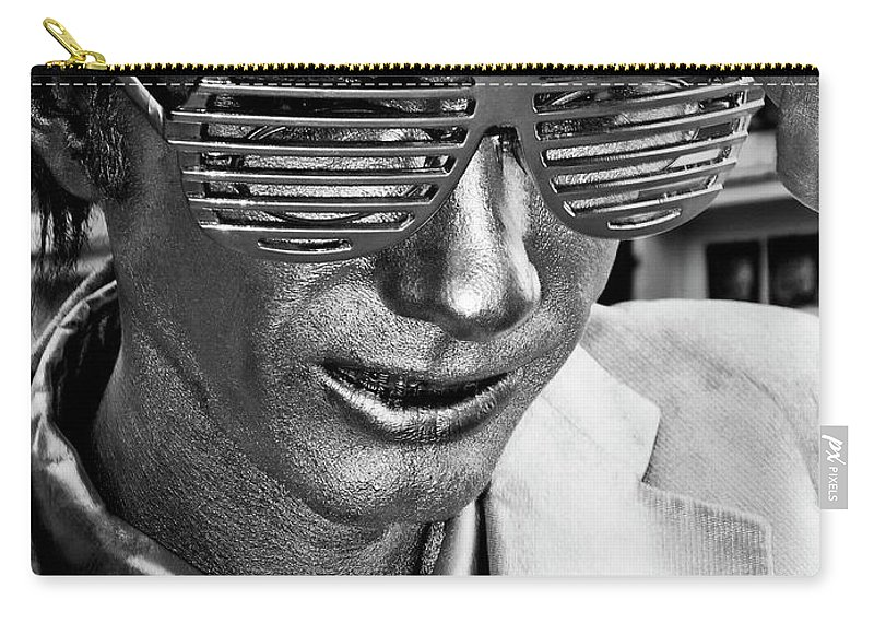 New Orleans Carry-all Pouch featuring the photograph Silver Man Mime by Kathleen K Parker