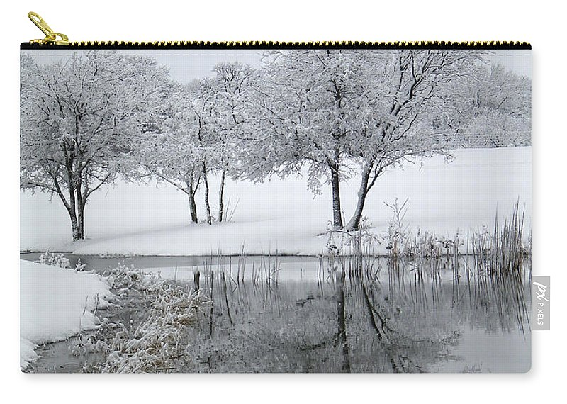 Pond Carry-all Pouch featuring the photograph Silver Morn by Gale Cochran-Smith