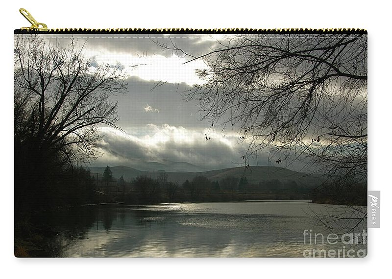 Prosser Carry-all Pouch featuring the photograph Silver River by Carol Groenen