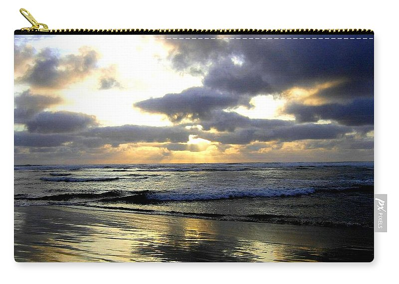 Sunset Carry-all Pouch featuring the photograph Silver Shores by Will Borden