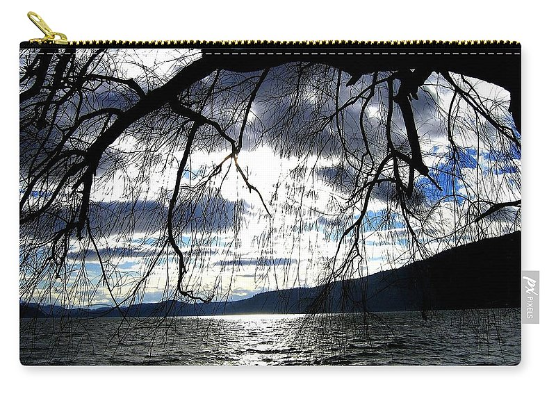 Sunset Carry-all Pouch featuring the photograph Silver Sunset by Will Borden