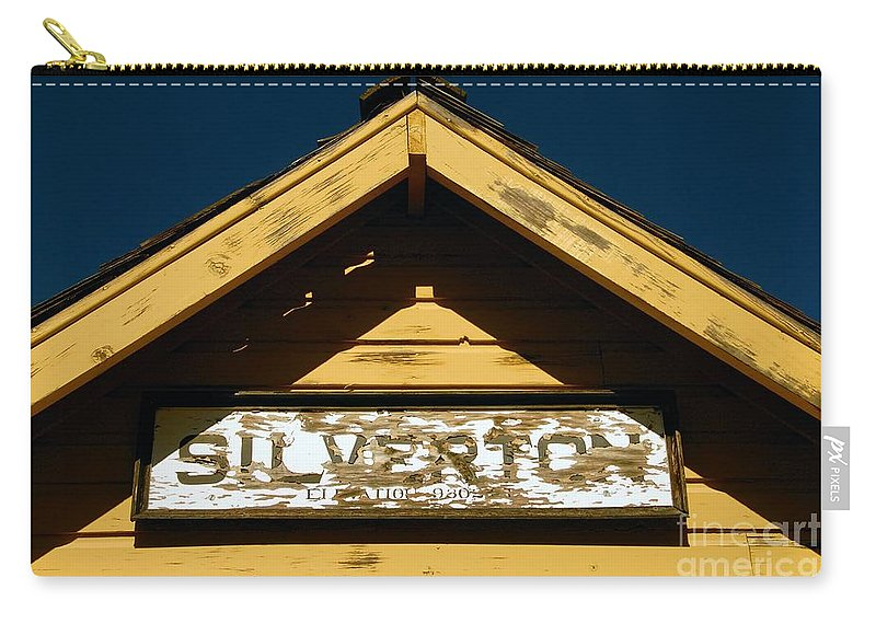 Silverton Colorado Carry-all Pouch featuring the photograph Silverton Train Station by David Lee Thompson