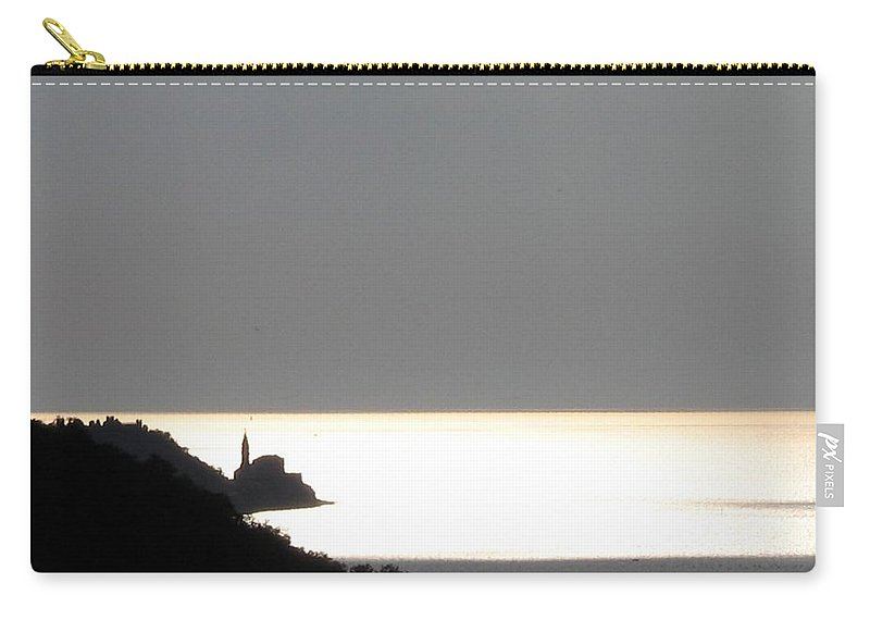 Sunset Carry-all Pouch featuring the photograph Silvery by Dragica Micki Fortuna