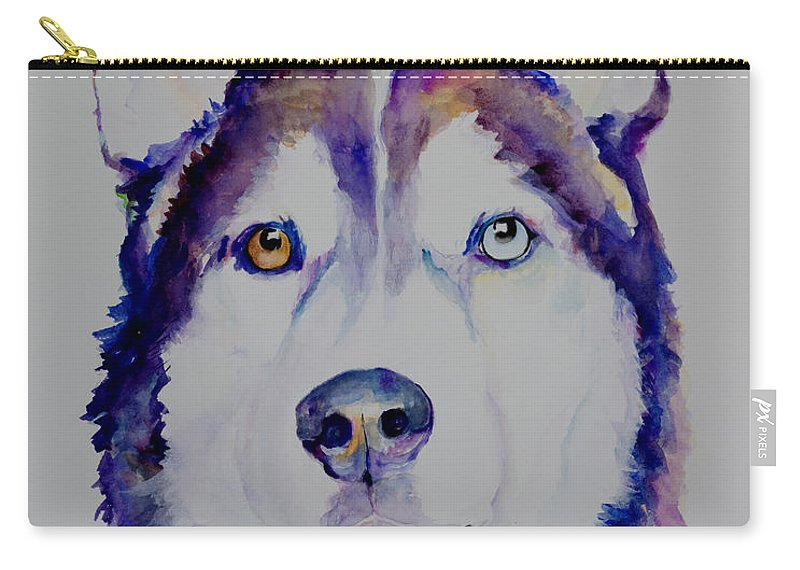 Siberian Husky Carry-all Pouch featuring the painting Simba by Pat Saunders-White