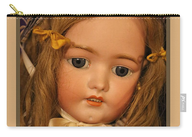 Theresa Campbell Carry-all Pouch featuring the photograph Simon And Halbig Antique Doll by Theresa Campbell